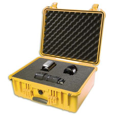 1550 Case W/Foam, Yellow