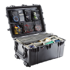 1634 Case W/Dividers, Black